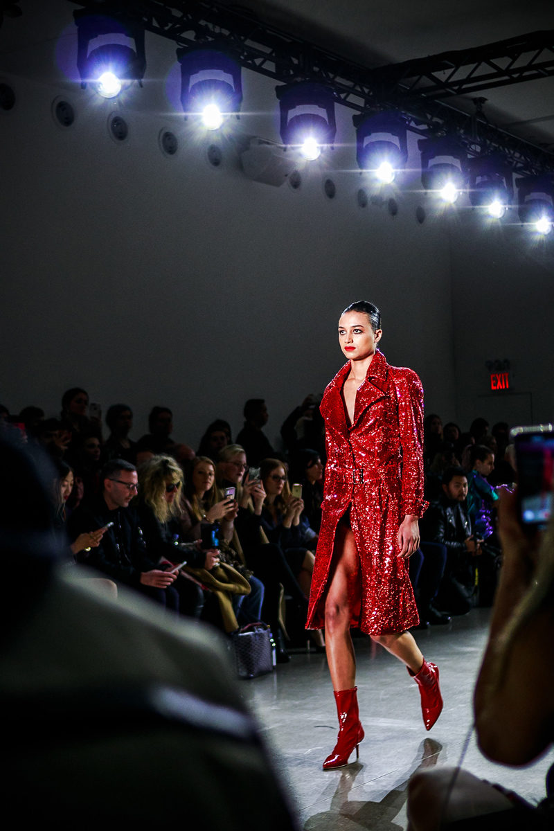 Christian Cowan NYFW Runway Red Sequin Dress - NYFW Recap by popular DC style blogger Alicia Tenise