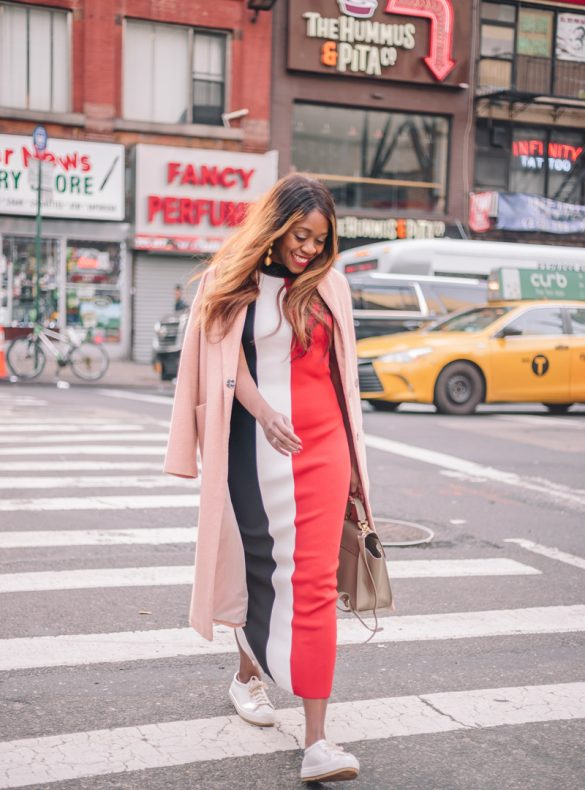 Solace London Colorblock Dress - NYFW outfit by popular Washington DC style blogger Alicia Tenise