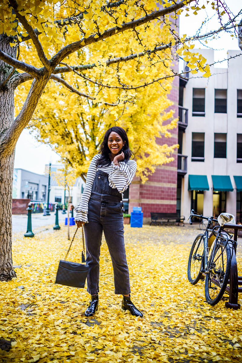 Free People Boyfriend Overalls, Visiting Asheville in the Fall - Asheville Travel Guide by popular Washington DC travel blogger Alicia Tenise