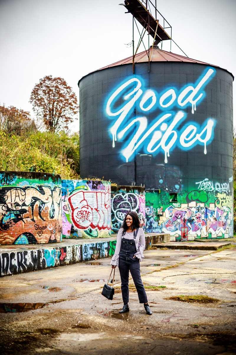 Good Vibes Mural in Asheville - Asheville Travel Guide by popular Washington DC travel blogger Alicia Tenise