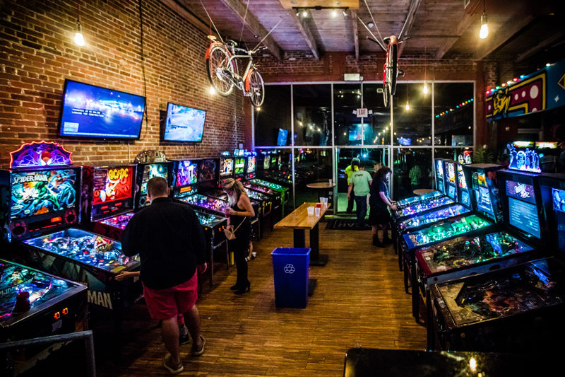 Boxcar Arcade Raleigh NC - Raleigh Travel Guide by popular DC travel blogger Alicia Tenise