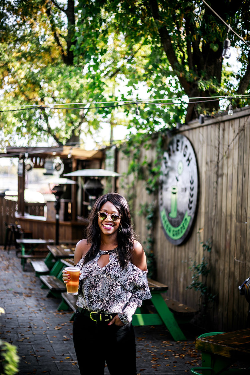 Raleigh Beer Garden - Raleigh Travel Guide by popular DC travel blogger Alicia Tenise