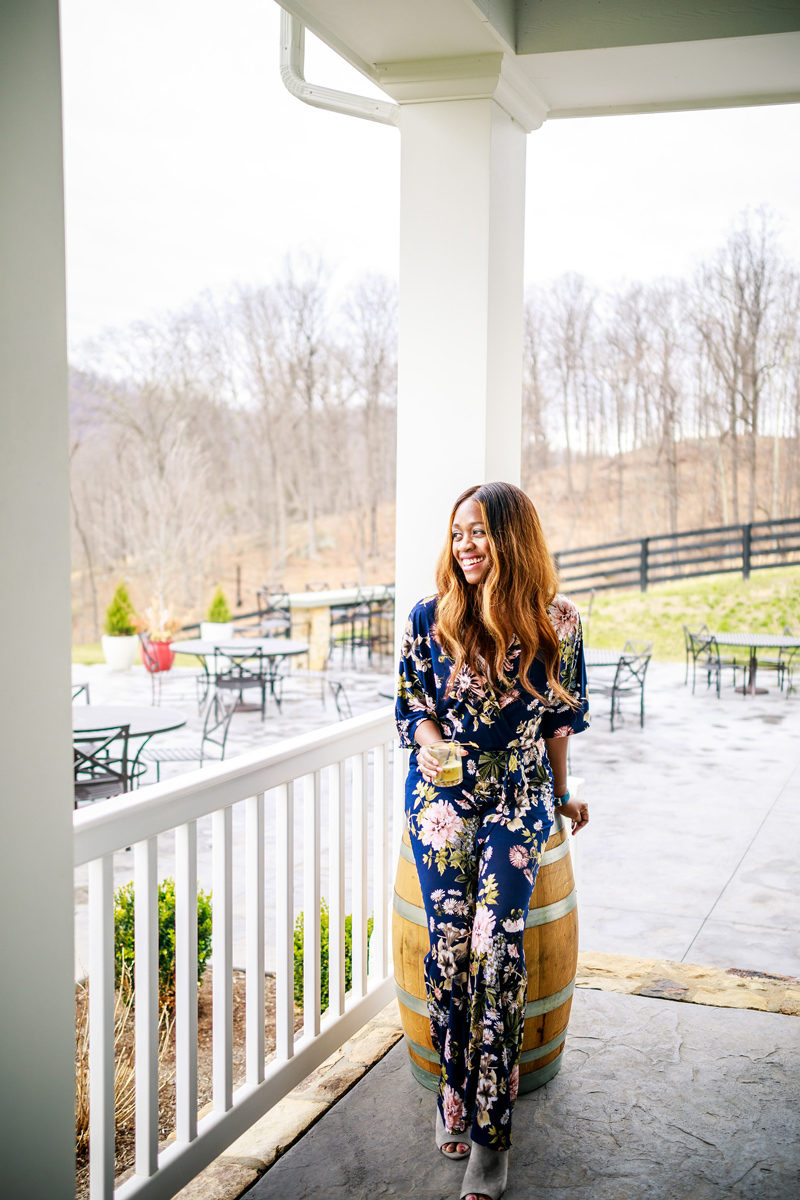 Spring Going Out Outfit Ideas - South Moon Under Floral jumpsuit styled by popular DC style blogger Alicia Tenise