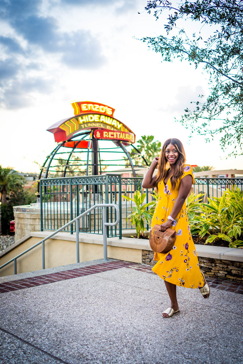 Free People Lost in You Midi Dress, Dining Options at Disney Springs - Disney World For Adults: Part 2 by popular DC travel blogger Alicia Tenise