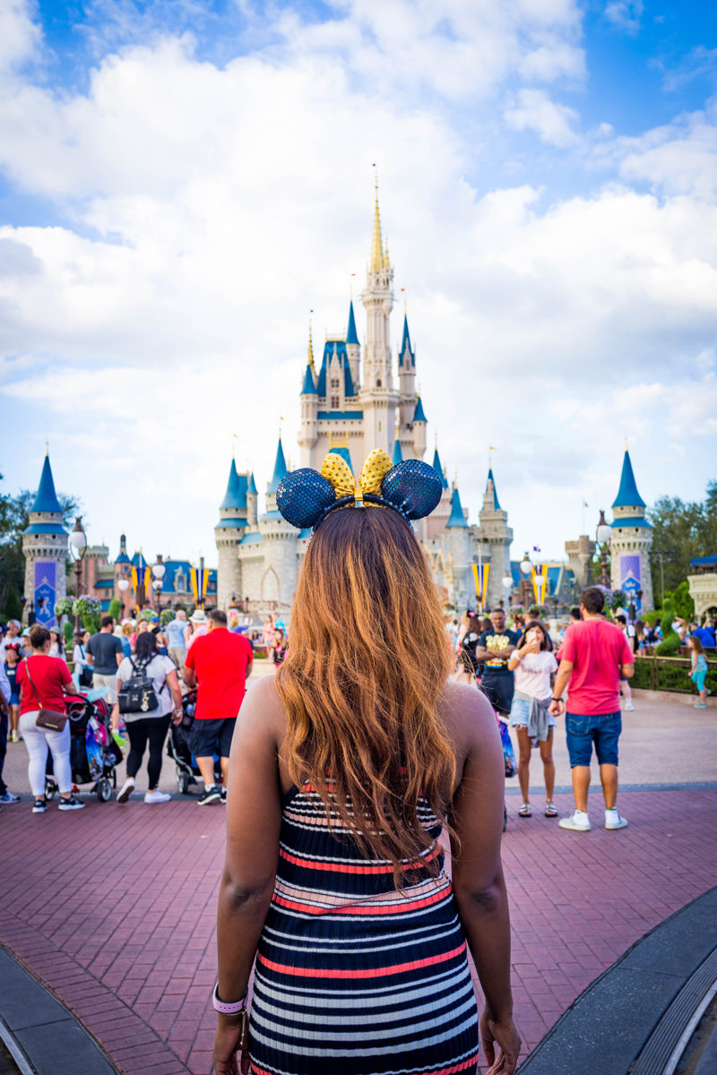 Minnie Mouse Ears at Magic Kingdom - Disney World For Adults by popular DC travel blogger Alicia Tenise
