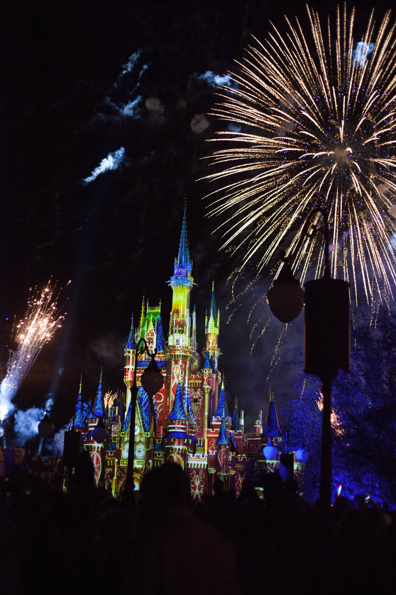 Fireworks at Magic Kingdom - Disney World For Adults by popular DC travel blogger Alicia Tenise