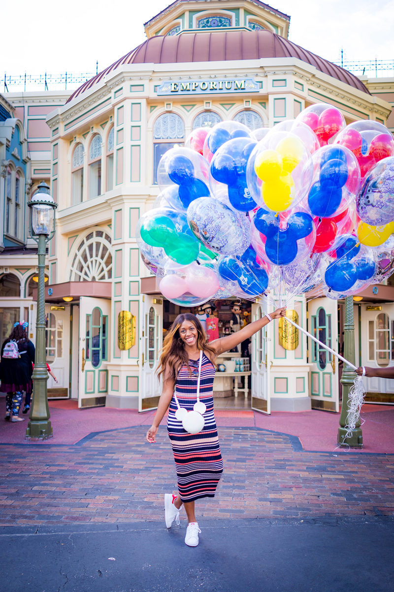 Walt Disney World Balloons at Magic Kingdom - Disney World For Adults by popular DC travel blogger Alicia Tenise