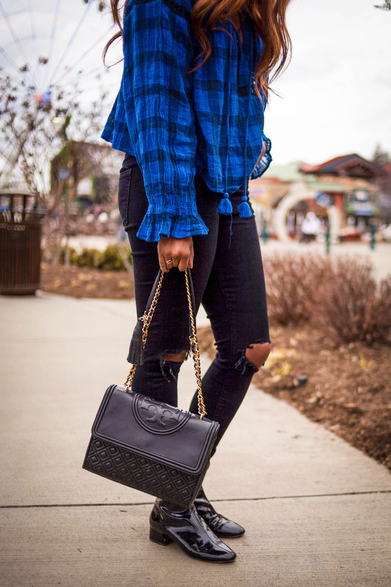 Tory Burch Fleming Handbag - The Spring Blues: How to Make The Most Out of An Extended Winter by popular DC style blogger Alicia Tenise