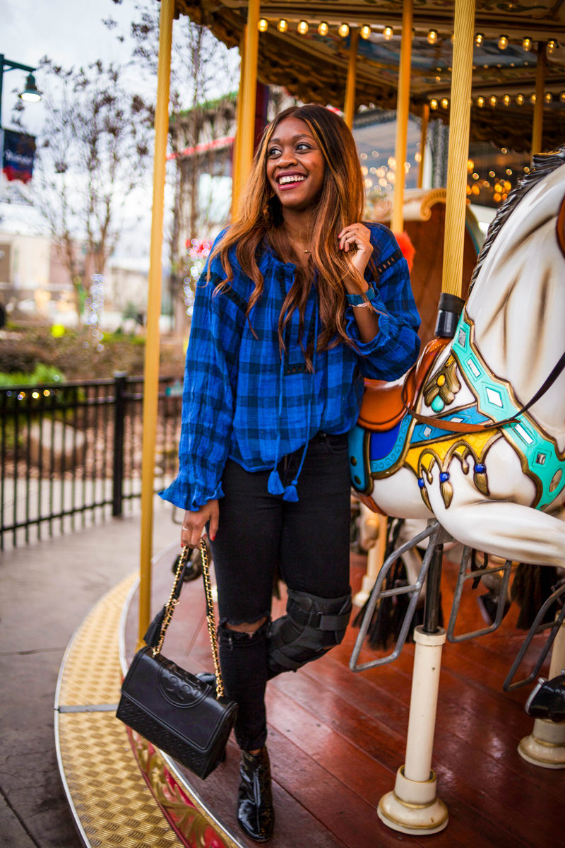How to Style a Plaid Top - The Spring Blues: How to Make The Most Out of An Extended Winter by popular DC style blogger Alicia Tenise