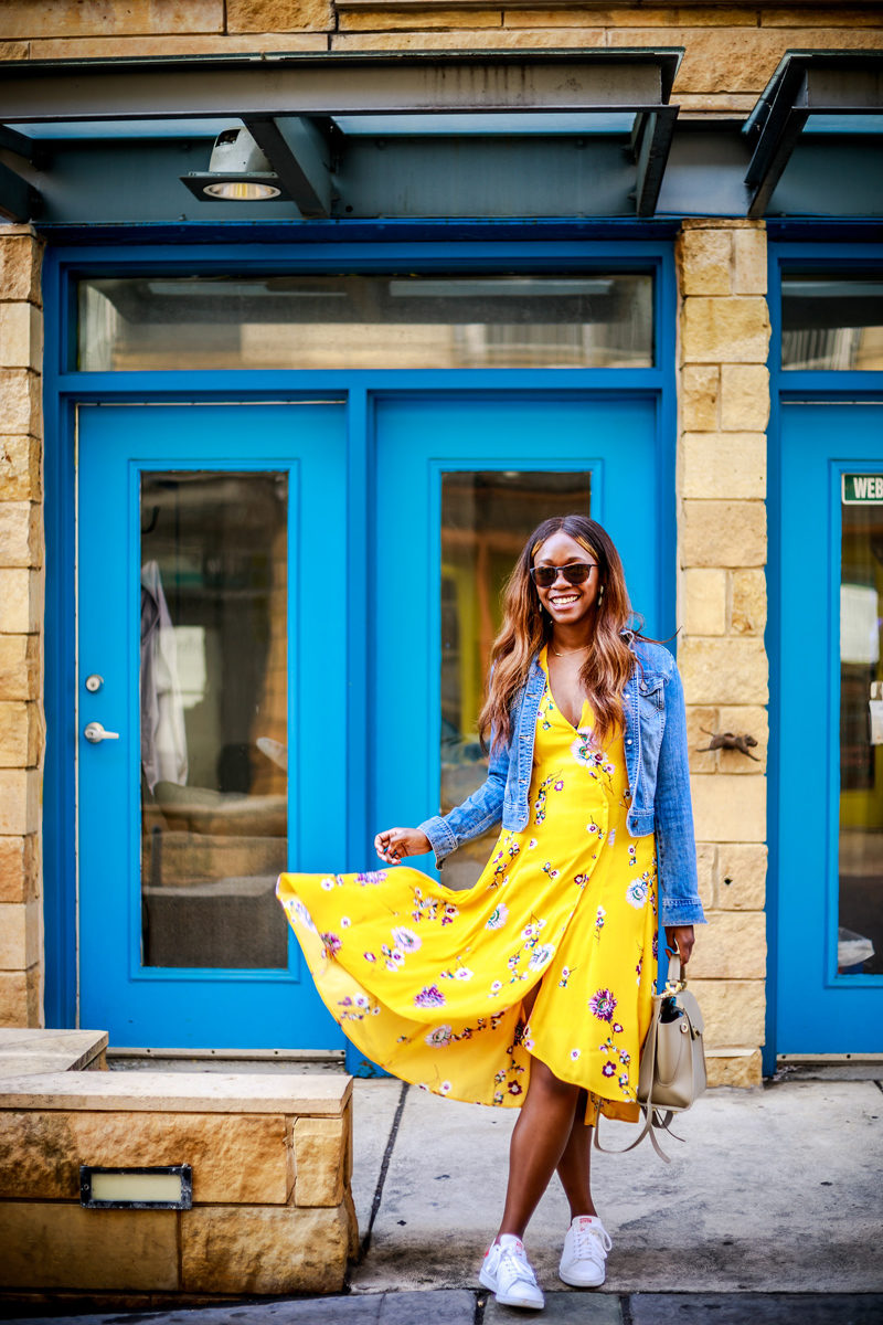 Free People Lost In You Floral Print Dress - Yellow Sundress by popular DC fashion blogger Alicia Tenise - Shopbop Sale top picks featured by popular DC style blogger Alicia Tenise
