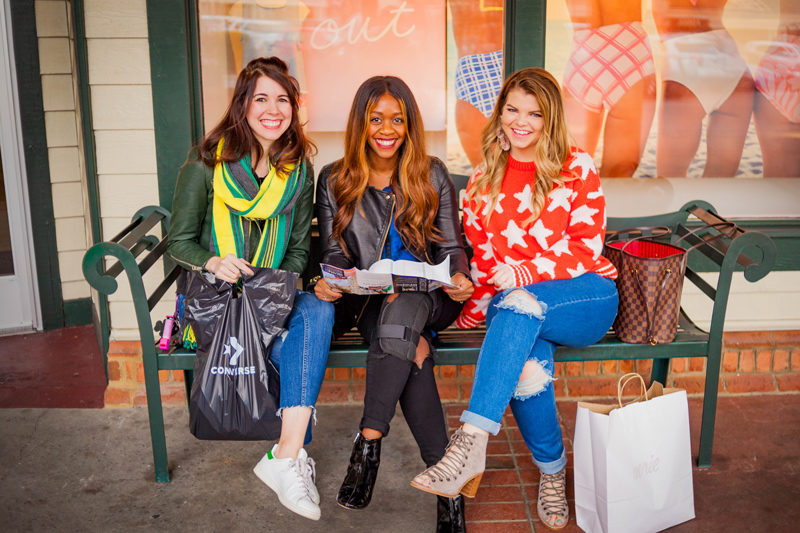 Alicia Tenise Greta Hollar and Lacey of The Glitter Gospel at Tanger Outlets in Pigeon Forge - Things to Do in Pigeon Forge by popular travel blogger Alicia Tenise