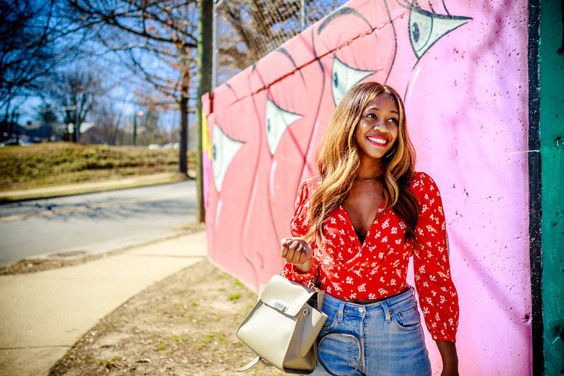 Floral Crop Top for Spring - The Strong Black Female Stereotype by popular DC style blogger Alicia Tenise