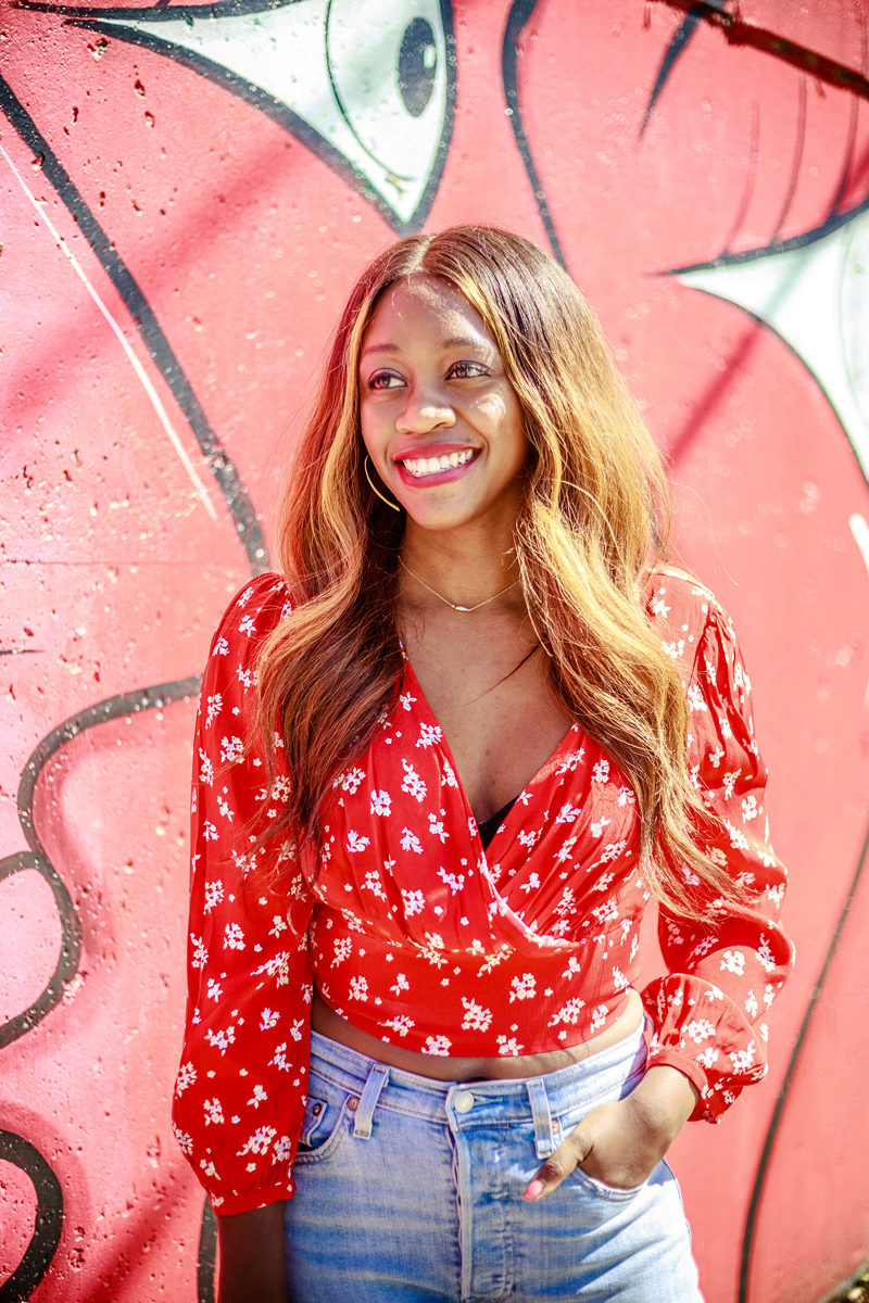 Forever 21 Red Floral Crop Top - The Strong Black Female Stereotype by popular DC style blogger Alicia Tenise