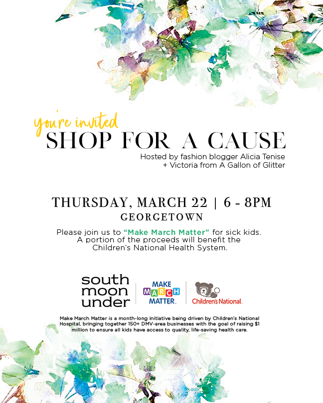 South Moon Under Shop for a Cause Event with Alicia Tenise
