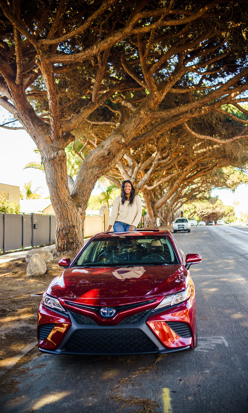 2018 Toyota Camry Hybrid SE - San Diego Travel Guide by popular travel blogger Alicia Tenise