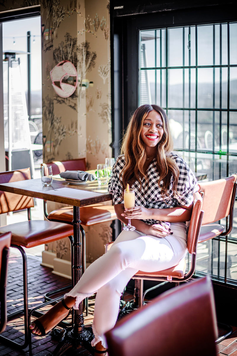 Graduate Charlottesville Rooftop Restaurant and Bar - Happy Hour Uniform styled by popular DC fashion blogger, Alicia Tenise