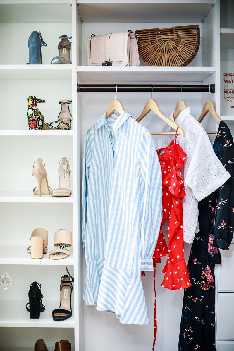 Blogger Closet, The Touraine No. 108 - Small closet organization tips by popular DC style blogger Alicia Tenise