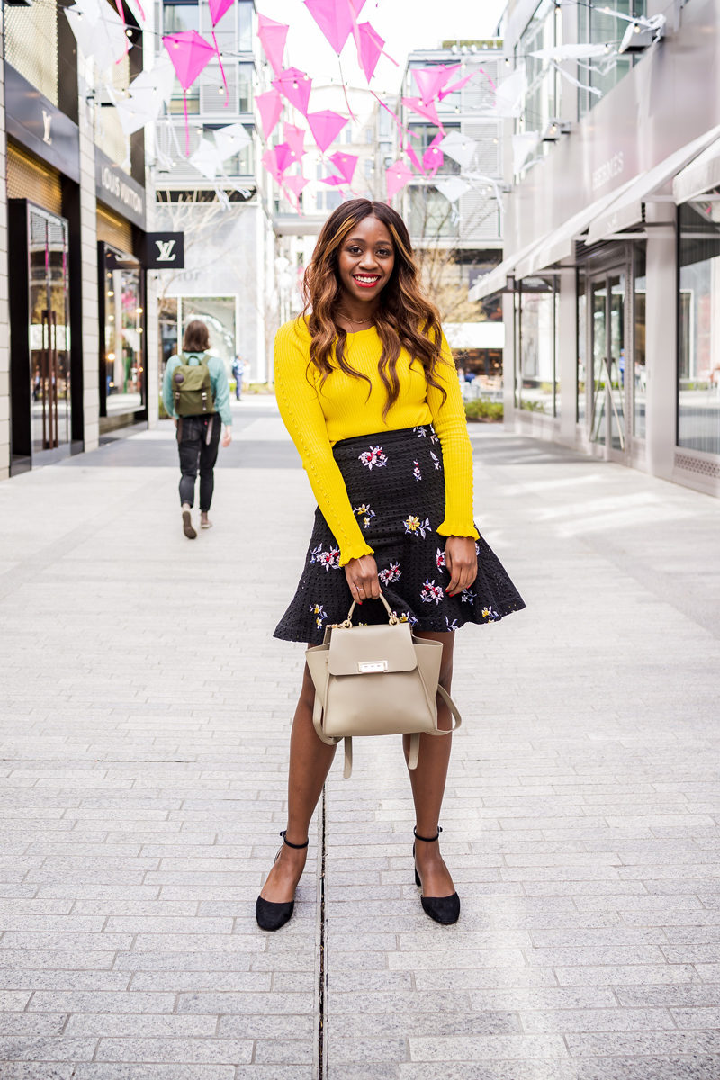 CityCenter DC Cherry Blossom Installation - How to Wear the Hottest Spring Color: Yellow by popular DC style blogger Alicia Tenise