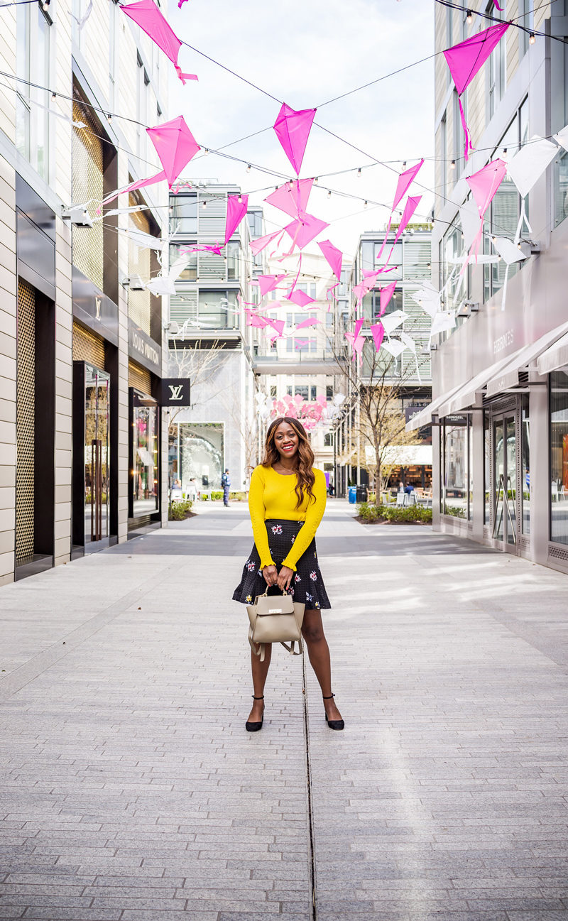 How to Wear the Hottest Spring Color: Yellow - The Top 10 Best Places to Take Photos in D.C. featured by popular DC blogger, Alicia Tenise