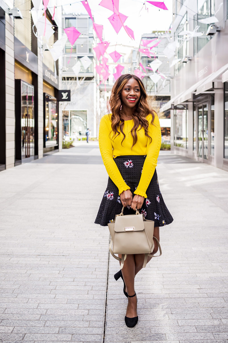 Zac Zac Posen Eartha Backpack - How to Wear the Hottest Spring Color: Yellow by popular DC style blogger Alicia Tenise