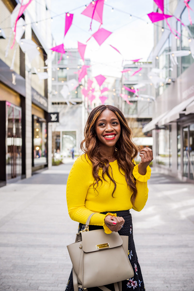 Ann Taylor Ribbed Ruffle Cuff Sweater - How to Wear the Hottest Spring Color: Yellow by popular DC style blogger Alicia Tenise