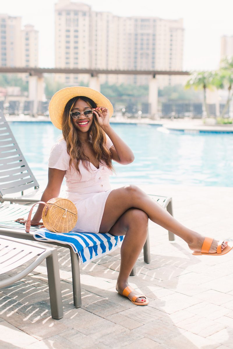 Abercrombie Wicker Crossbody Bag - Summer Wardrobe Essentials featured by popular DC style blogger, Alicia Tenise