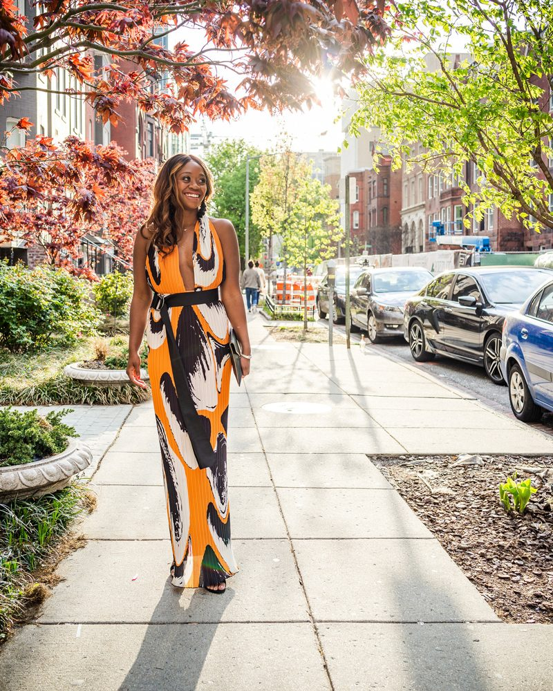 Printed Formal Gown - What to Wear During White House Correspondents Dinner Weekend by popular DC style blogger, Alicia Tenise
