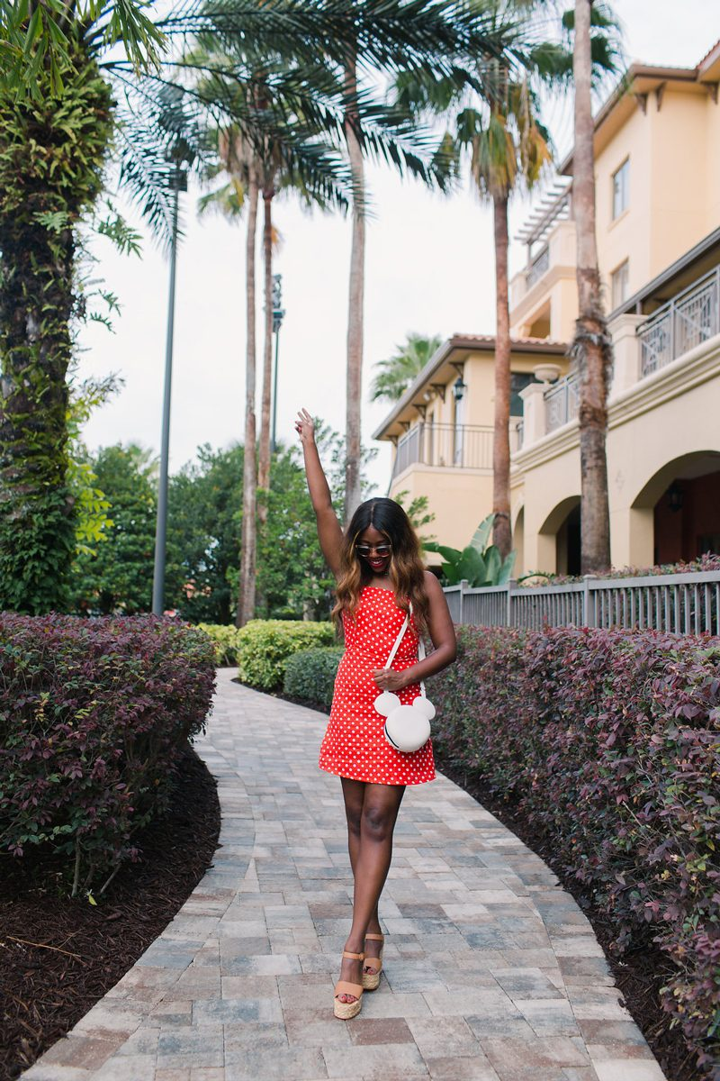 What to Wear to Disney World - How to Channel Your Inner Disney Style: Minnie Mouse Outfit featured by DC style blogger, Alicia Tenise