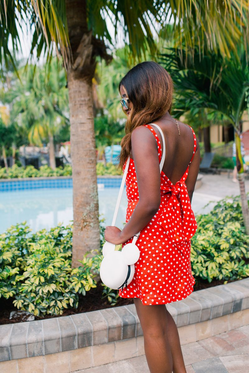 Bow Tie Back Dress - How to Channel Your Inner Disney Style: Minnie Mouse Outfit featured by DC style blogger, Alicia Tenise
