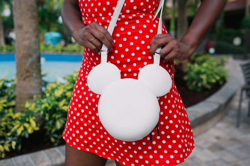 Minnie Mouse Bag - How to Channel Your Inner Disney Style: Minnie Mouse Outfit featured by DC style blogger, Alicia Tenise
