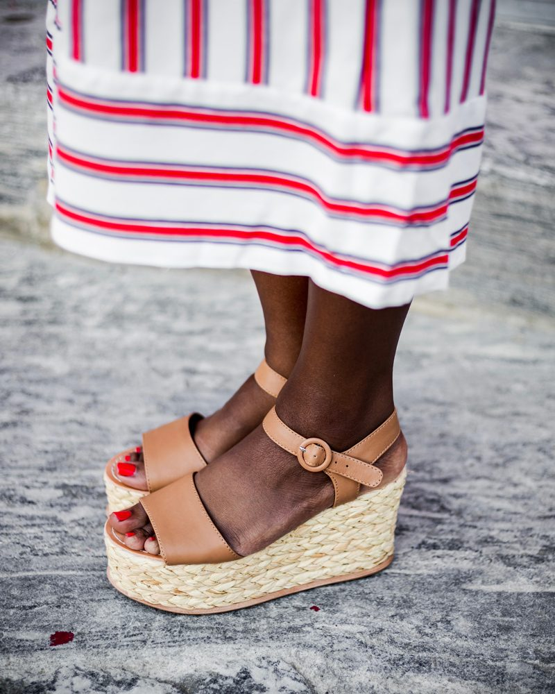 Dolce Vita Dane Platform Espadrilles - The Striped Jumpsuit featured by popular DC Fashion blogger, Alicia Tenise