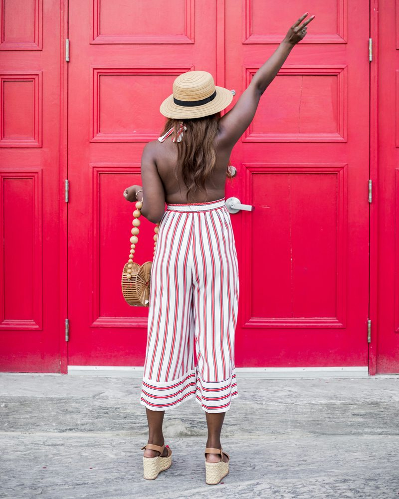 - The Striped Jumpsuit featured by popular DC Fashion blogger, Alicia Tenise