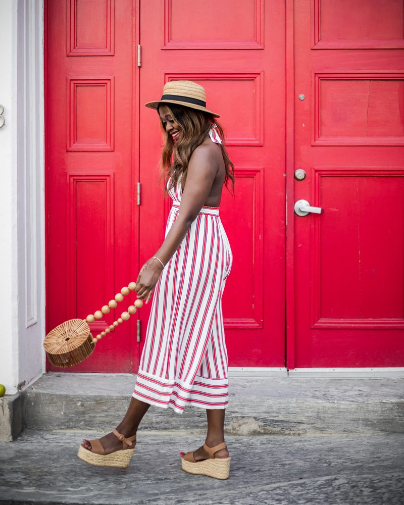 The Striped Jumpsuit featured by popular DC Fashion blogger, Alicia Tenise
