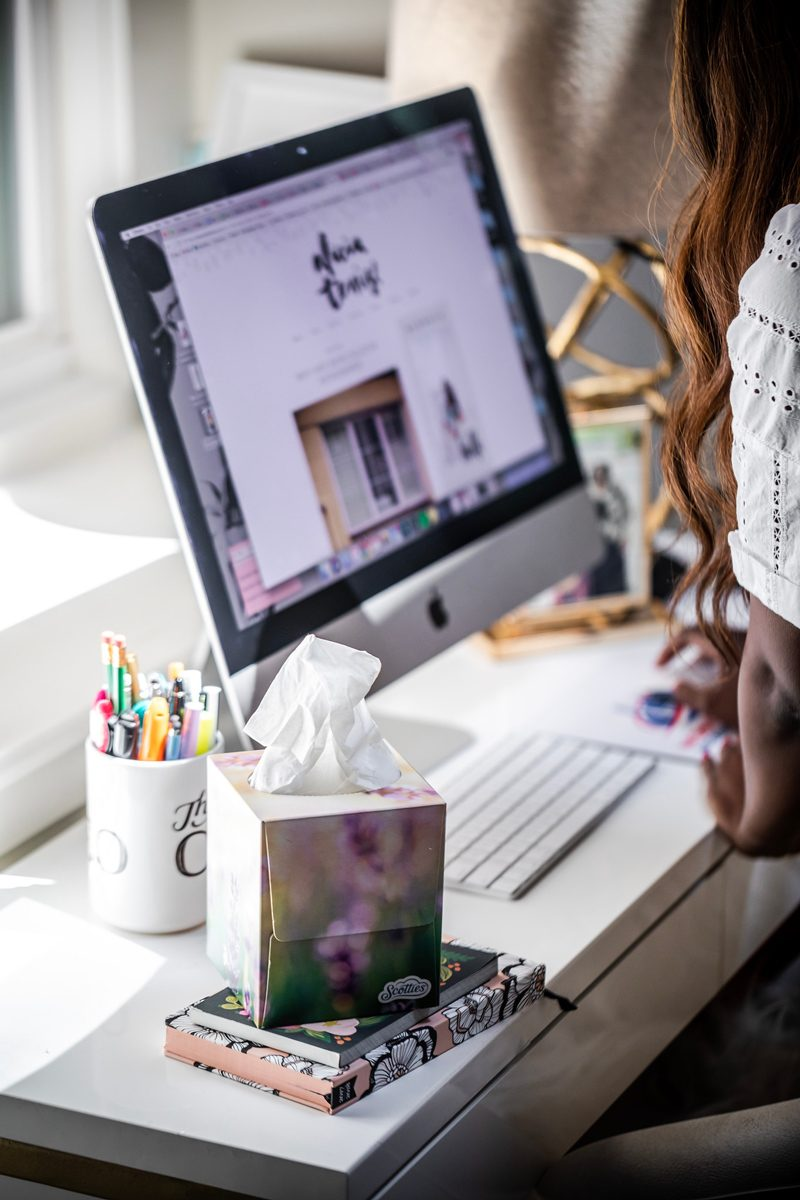 Decorating for Spring with Scotties Tissues, Blogger Workspace - Blogging Tips: 5 Things to Ask a Brand Before Collaborating by popular DC blogger, Alicia Tenise