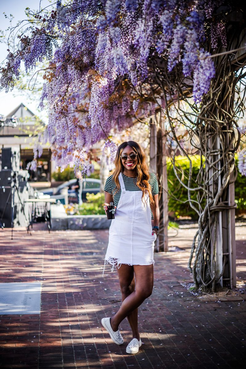 Blank NYC Overall Mini Dress - Fun at the Williamsburg Taste Festival featured by popular DC travel blogger, Alicia Tenise