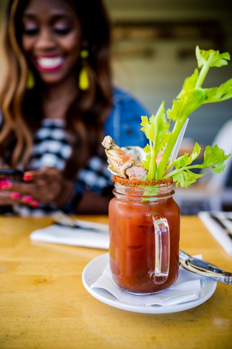 Bloody Mary at Gabriel Archer Tavern - The Ultimate Williamsburg Travel Guide featured by popular DC travel blogger, Alicia Tenise