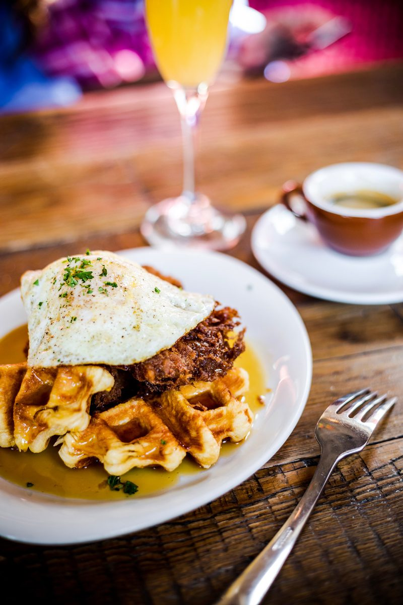 Fried Chicken and Waffles at Culture Cafe - The Ultimate Williamsburg Travel Guide featured by popular DC travel blogger, Alicia Tenise
