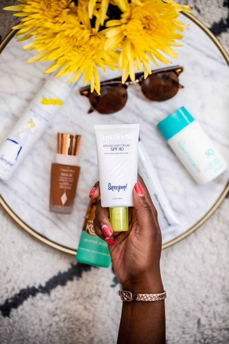 Supergoop! Unseen Sunscreen Broad Spectrum SPF 40 - My Favorite Summer Skincare Products for 2018 by popular DC style blogger, Alicia Tenise