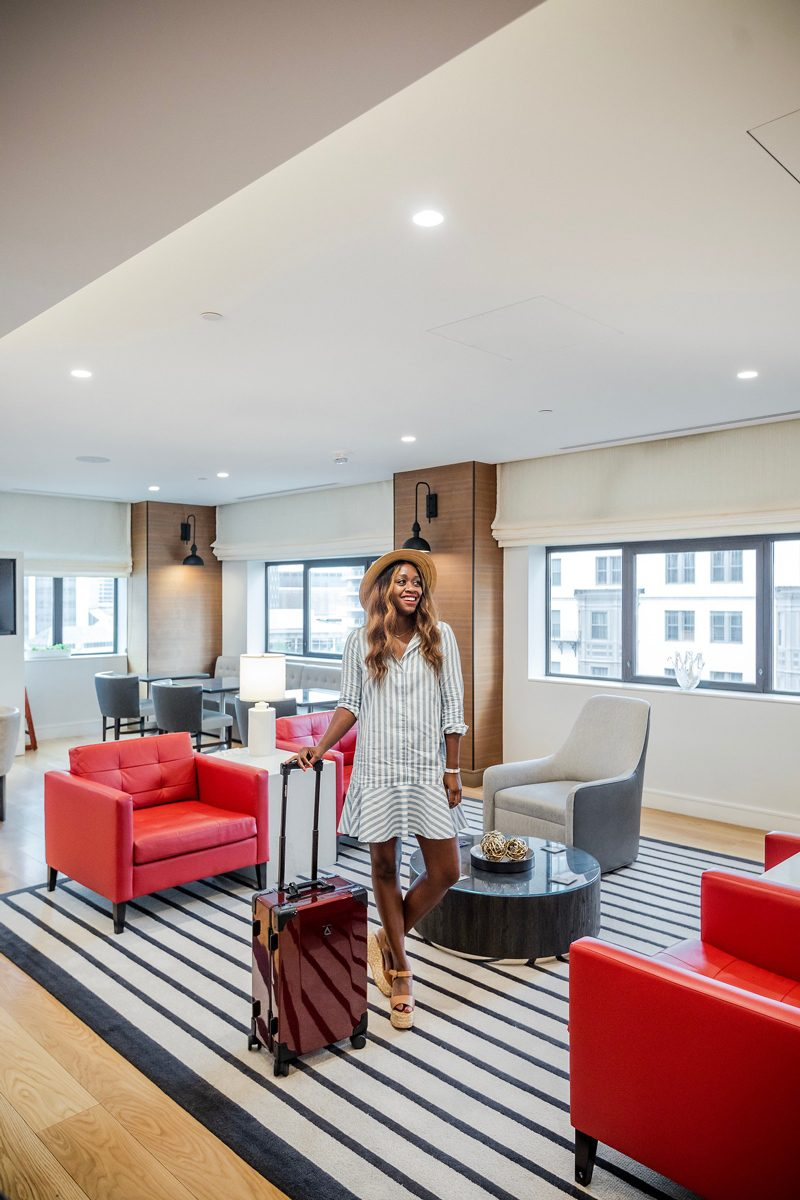 Westin Copley Place, Andiamo Luggage - 5 Cool Technology Gadgets I Won't Travel Without featured by popular DC travel blogger, Alicia Tenise