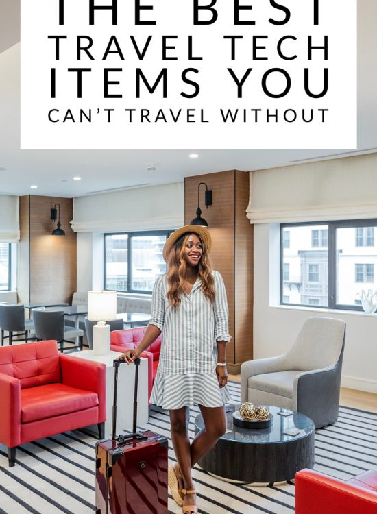 5 Cool Technology Gadgets I Won't Travel Without featured by popular DC travel blogger, Alicia Tenise