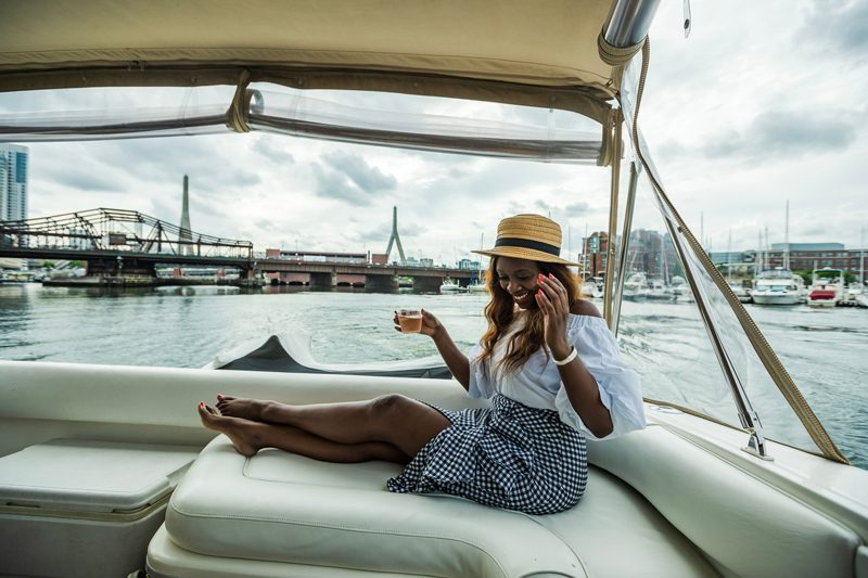 Discover Boating Boston - A Chic Hotel in the Heart of Downtown Boston: The Westin Copley Place featured by popular DC travel blogger Alicia Tenise