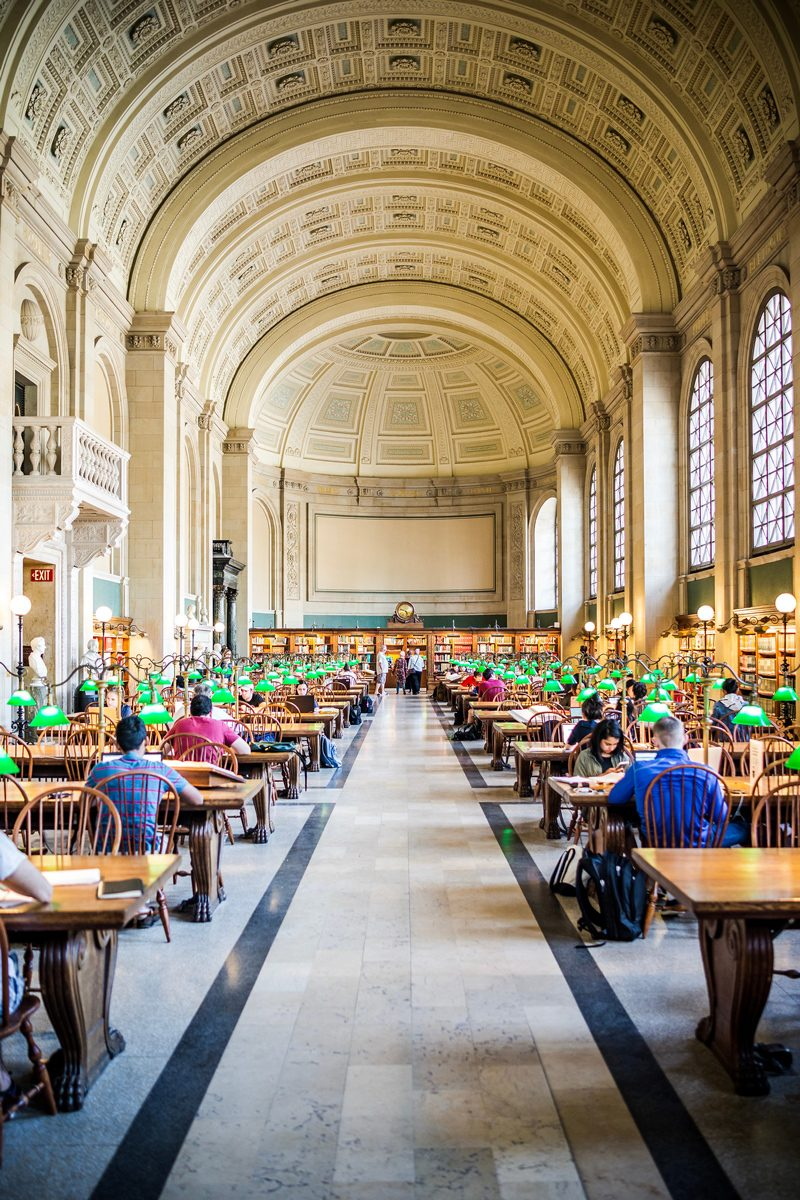 Boston Public Library - Boston Travel Guide: Things to Do & Where to Eat by popular DC travel blogger, Alicia Tenise