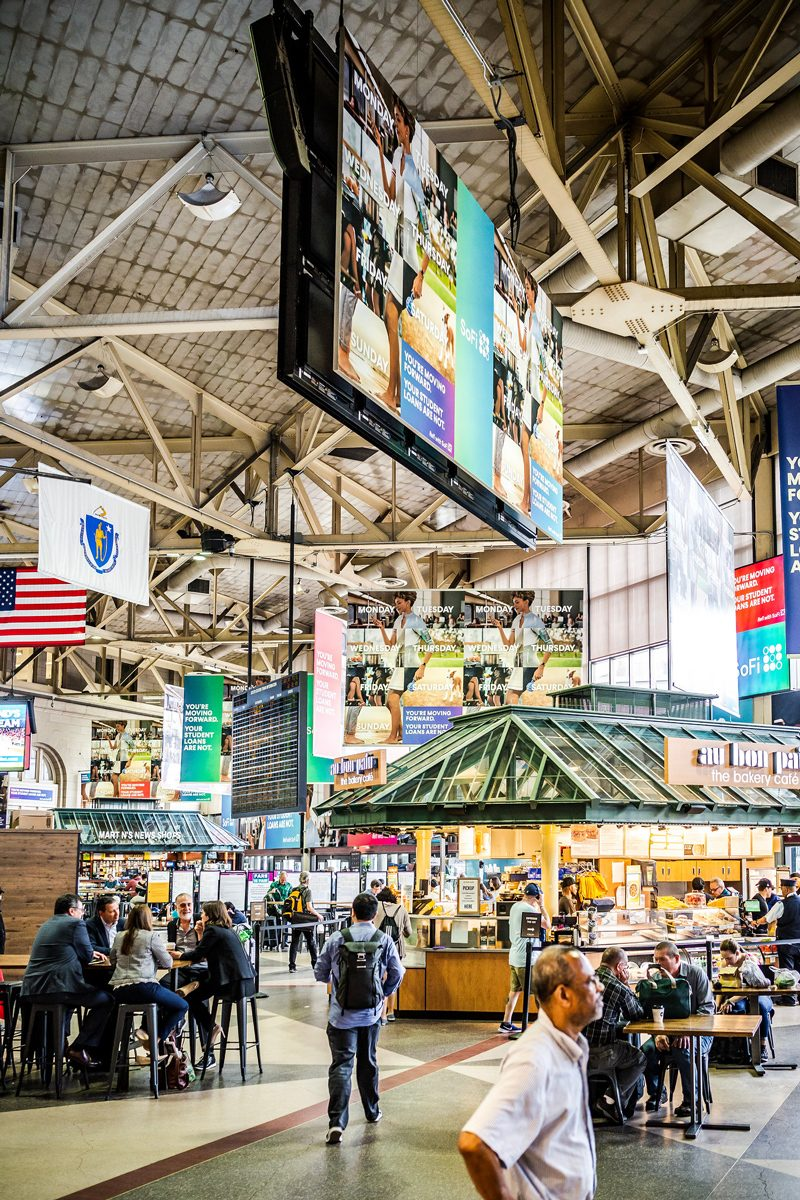 Boston Amtrak Back Bay Station - Boston Travel Guide: Things to Do & Where to Eat by popular DC travel blogger, Alicia Tenise