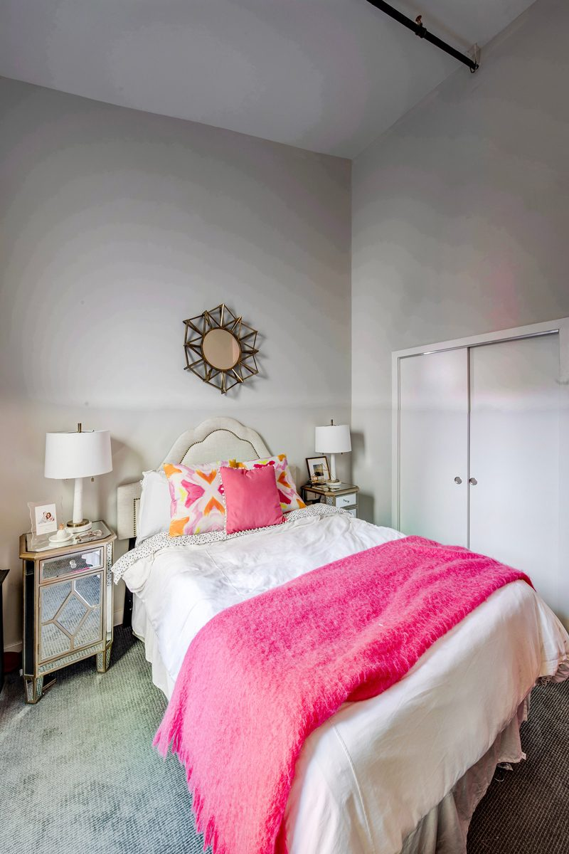 Pink Master Bedroom Ideas - My Philly Apartment Tour featured by popular Philadelphia blogger Alicia Tenise