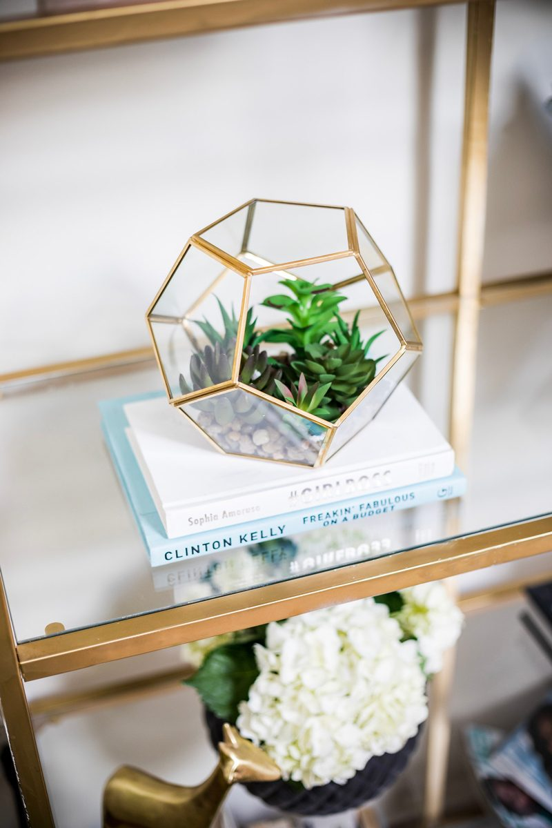 Bookcase Styling with Plants - My Philly Apartment Tour featured by popular Philadelphia blogger Alicia Tenise