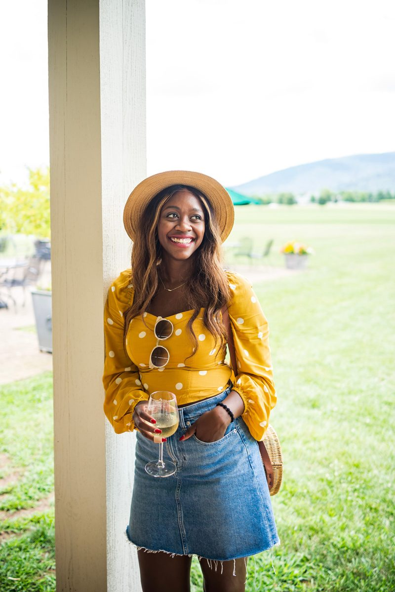 Casual Summer Daytime Date Outfit Idea - Polka Dot Fashion: Why Polka Dots are the New Stripes featured by popular DC style blogger Alicia Tenise