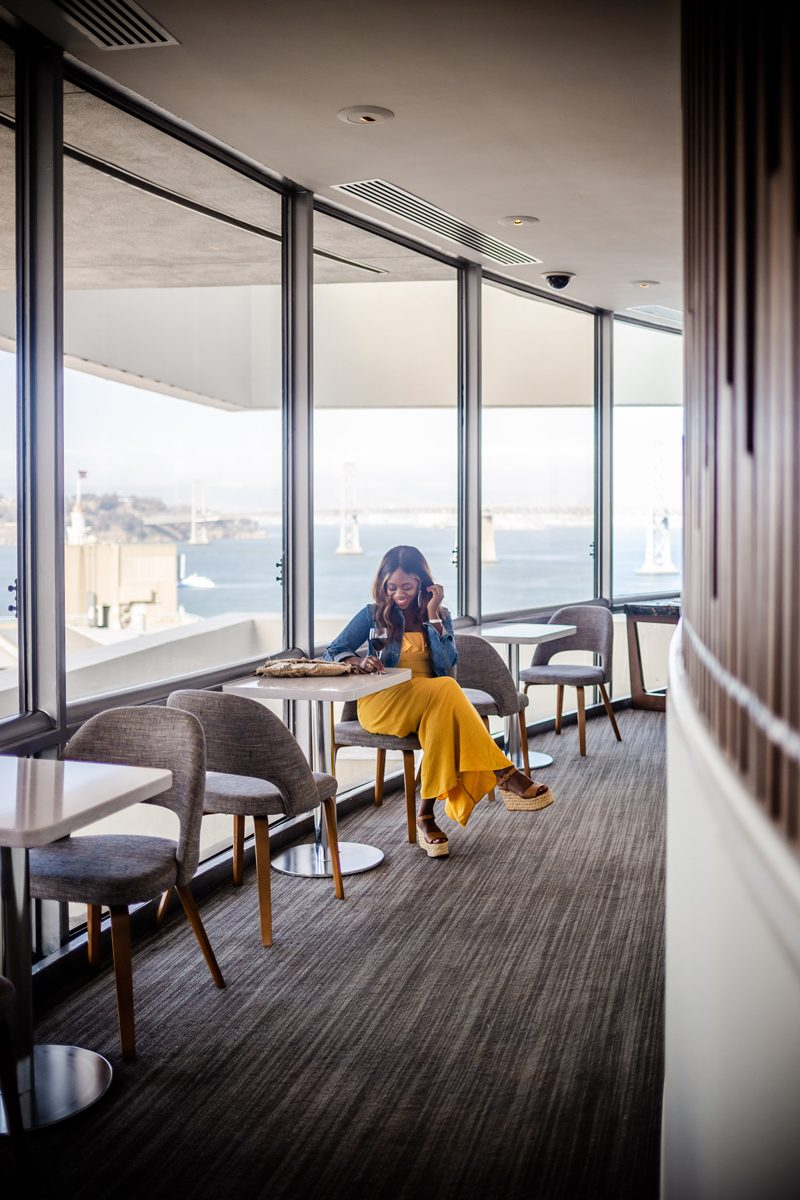 Club Lounge - Our Home Away From Home: The Hyatt Regency San Francisco featured by popular DC travel blogger Alicia Tenise