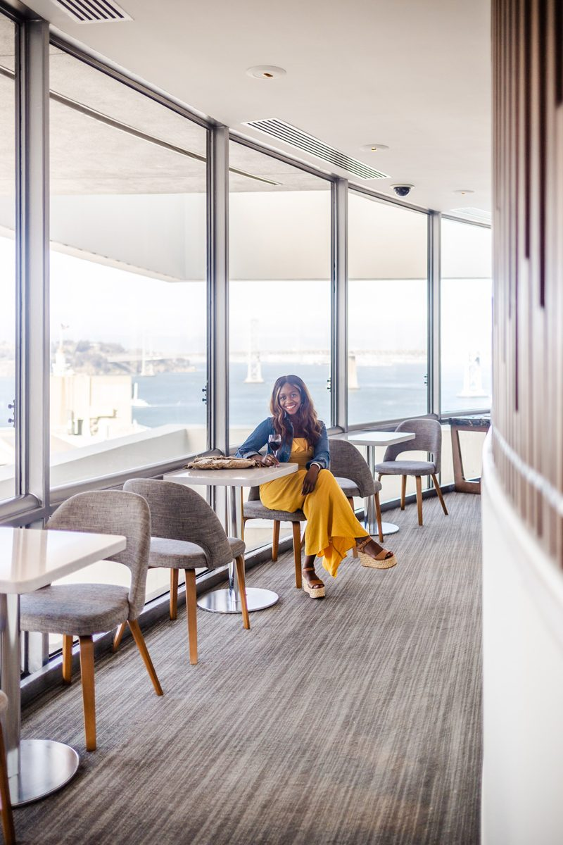 Club Lounge Views - Our Home Away From Home: The Hyatt Regency San Francisco featured by popular DC travel blogger Alicia Tenise