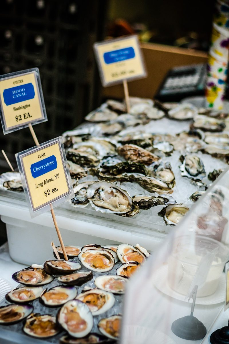 Ferry Building Oysters - Our Home Away From Home: The Hyatt Regency San Francisco featured by popular DC travel blogger Alicia Tenise