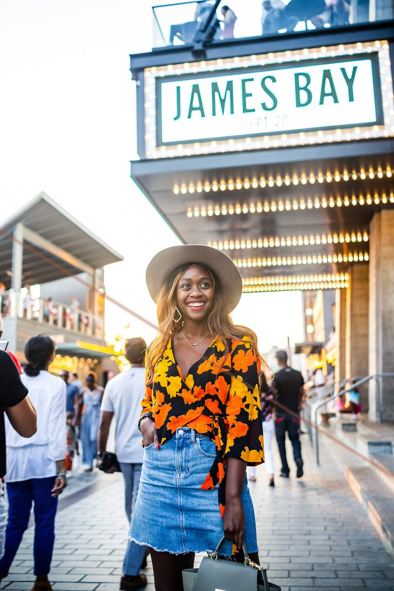 Topshop Big Bloom Tie Wrap Blouse - Music Festival outfit featured by popular DC style blogger, Alicia Tenise